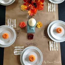 thanksgiving table runner pattern kraft paper table runner dawn nicole designs