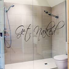 bathroom ideas bathroom wall decals stickers on glass shower door
