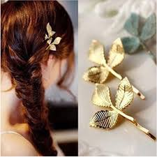 gold hair accessories 2 pcs vintage gold hair pins solid korea alloy plated hair