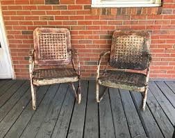 Motel Chairs Metal Chair Etsy
