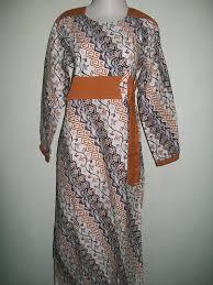 desain baju batik halus jual baju gamis batik trendy bahan katun halus asli solo gm026