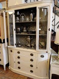 reinvented drexel heritage hutch with graphic hand painted modern
