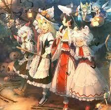 happy halloween artwork happy halloween touhou group the border between gensokyo and