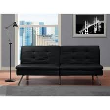 dhp chelsea black futon 2009009 the home depot