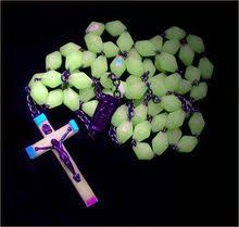 glow in the rosary catholic vintage glow in the rosary large restore