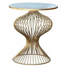 Gold Side Table Gin Shu Deco Gold Side Table Side Tables Zurleys