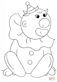 silly clown coloring page free printable coloring pages