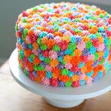 flower cake multicoloured drop flower cake cake bake kiwi
