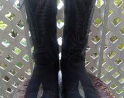 womens cowboy boots size 9 womens cowboy boots etsy