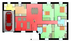 plan de maison plain pied 4 chambres plan maison 4 chambres planos de casas con 4 dormitorios