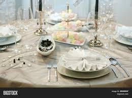 Dinner Table Elegant Dinner Table Settings Christmas Eve Dinner Party Table