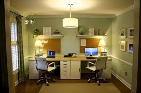 Home Office With Two Desks Useful Tips Of Two Person Desk Home Office Homeideasblog