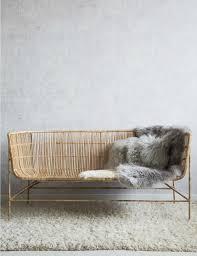 Rattan Two Seater Sofa Natural Bamboo Two Seater Sofa At Rose U0026 Grey