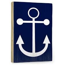 navy anchor vintage wood sign rosenberryrooms com