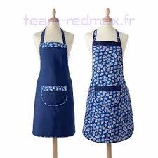 tablier cuisine femme 40 92 femme lora zellini tablier bavette uni imprimé lot 2