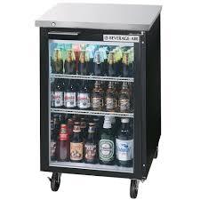 glass door bar beverage air bb24g 1 b led 24