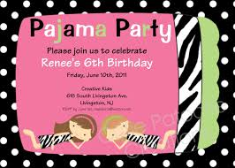 Sweet 17 Invitation Card Pyjama Party Invitation Cloveranddot Com