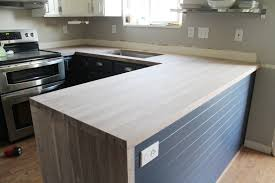 Diy Wood Kitchen Countertops by Installing Our Black Walnut Craft Art Countertops Chris Loves Julia