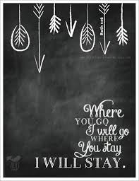 scripture gifts ruth 1 16 print where you go i ll go chalkboard christian