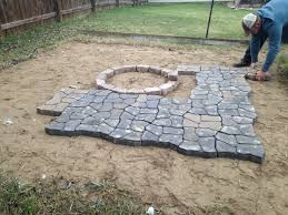 Paver Patios With Fire Pit by Decor Large Lowes Patio Pavers With Bench And Fire Pit For
