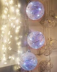 glitter ornament lights balsam hill