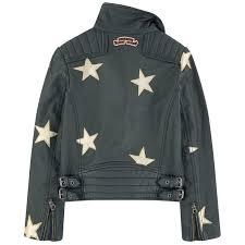leather biker jacket star printed leather biker jacket scotch u0026 soda for girls