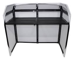 Dj Desk Prox Xf Mesa Bl Dj Booth With Black U0026 White Scrims Pssl