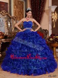 blue quincea era dresses royal blue gown sweetheart floor length organza beading
