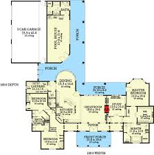 corner lot floor plans plan 62134v ranch home with pool house ranch country and house
