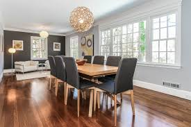 Transitional Dining Rooms Dining Room With Pendant Light U0026 Crown Molding In Larchmont Ny