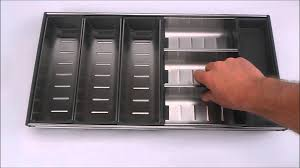 Kitchen Drawer Inserts Modular Stainless Steel Cutlery Tray Youtube