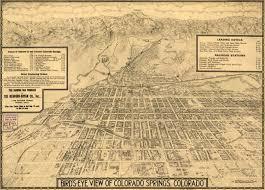 Colorado Springs Colorado Map by Birdseye View Of Colorado Springs 1909
