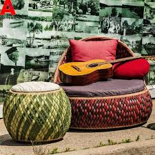 Rattan Outdoor Patio Furniture by New Rattan Round Bed Rattan Outdoor Furniture Garden Patio