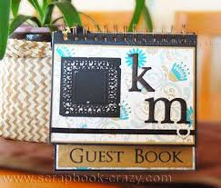 unique wedding guest books scrapbook wedding guest book