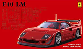 model f40 1 24 sports car series no 114 f40 lm model car by
