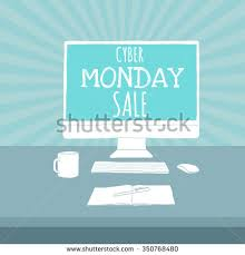 black friday sale on monitors cyber monday sale on monitor vector stock vector 350768480