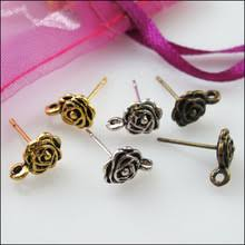 earring studs with loop popular gold flower earrings studs buy cheap gold flower earrings