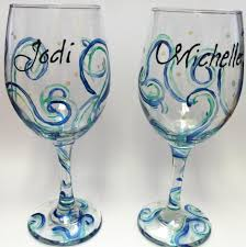best hand painted wine glass ideas beautiful glass painting