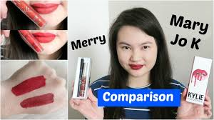 lip kit jo k merry comparison swatches tracey