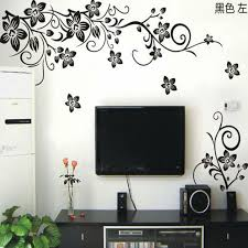 living room wall stickers hot vine wall stickers flower wall decal removable art pvc home