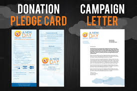 pledge cards template corporate fundraising brochures