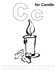 candle coloring page printable free coloring pages for christmas