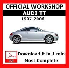 free car manuals to download 2001 audi tt electronic throttle control official workshop manual service repair audi tt 1997 2006