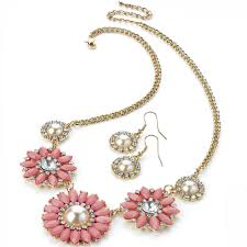 ladies necklace designs images Gorgeous fashion costume jewellery eye catching ladies flower jpg