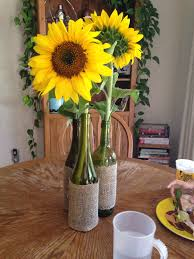sunflower centerpieces wine bottle sunflower centerpiece my mind