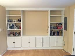 Built In Desk Diy Bathroom Wall Units Interesting Built In Bookshelves And