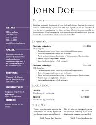 Resume Templates Open Office Free by Open Office Resume Template Skillful Resume Templates For