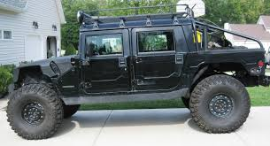 jeep hummer matte black 2005 hummer h1 base model mickey thompson baja claw ttc radial 46
