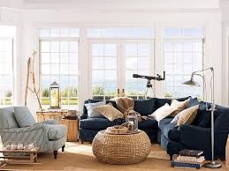 Best Denim Couch Images On Pinterest Living Room Ideas - Coastal living family rooms