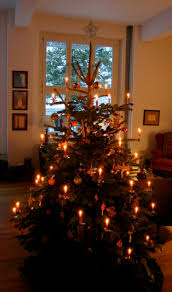 German Christmas Decorations Kathy by Two Candlelit Christmas Trees The Unbroken Threadthe Unbroken Thread